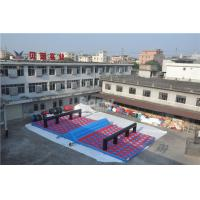 Cheap Inflatable Obstacle Race , Inflatables 5k Obstacle Mattress Run Size 20x10x1.2M for sale