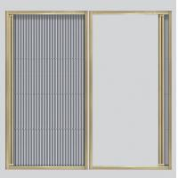 Cheap Floding screen window & door for sale with Aluminum frame and pleated screen mesh for sale