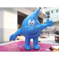 Cheap Water Drop Advertising Costumes , Light Weight inflatable mascot suit for sale