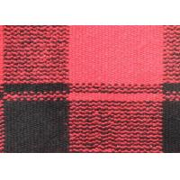 Cheap Drop Needle Acquard Knitted Check Wool Fabric Red Curry Rice Blank Squares for sale