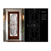 Buy cheap Classical Thermal / Sound Insulation Door Art Glass Sheets With Black Chrome from wholesalers