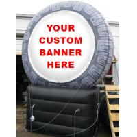 Cheap inflatable product model replica / inflatable tire  / PVC Inflatable giant tire advertising for sale