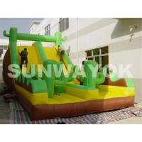 Cheap OEM Green Antelope Plato TM Inflatable Obstacle Course With bounce slides rentals for sale