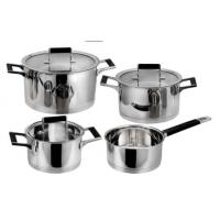 China Best selling product 8PCS stainless steel cookware with heat resistant handle on sale