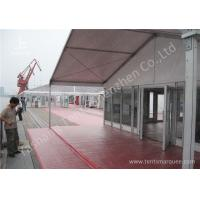 Cheap 15M Clear Span Aluminum Outdoor Event Tent Designed With Transprent Glass Wall for sale