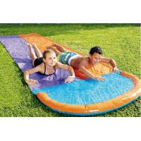 Cheap Fancy Outdoor Leisure Equipment PVC Customized Colored Inflatable Double Splash Water Slide 60~120cm Deflated wholesale