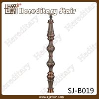 Cheap Retro Red Antique Casting Aluminum Balustrade for Staircase (SJ-B019) for sale