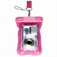 Cheap Waterproof Mobile Phone Pouches, and also for Camera, Made of PVC for sale