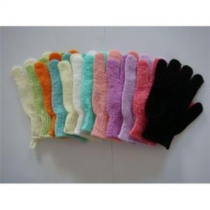 Cheap Nylon exfoliating bath gloves for sale