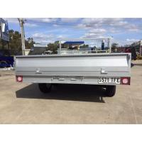 Cheap 12 Inch High Sides Tray Top Trailer / 7 X 5 Box Trailer With Rear Door for sale