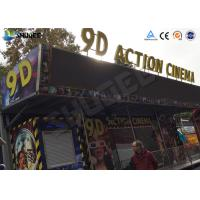 Cheap 12 / 16 / 24 People 9D Movie Theater With Motion Chair For Amusement Park for sale