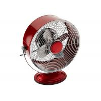 Red 9 Inch Portable Vintage Electric Fan / Two Speed Air Circulator Retro Table Fan