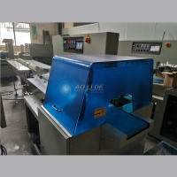 China 80 bags/Min Horizontal Flow Pack Machine For T Shirt Rubbish Bag on sale