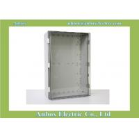 Cheap 600x400x220mm ip66 PC clear waterproof hinged plastic box hinged box for sale