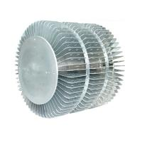 Buy cheap Industrial Extruded Aluminum Heatsink For LED Fixture Round Extrusion Heatsink Profile from wholesalers
