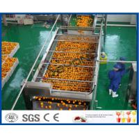 China 10TPH Automatic Orange Juice Extract Orange Processing Line For Juice Making Factory on sale