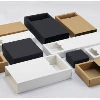 Cheap Custom Printed Clothing Paper Boxes , Drawer Type Paper Shopping Box for sale
