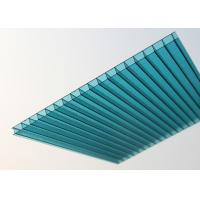 Cheap Lake Blue Polycarbonate Sheet , Embossed Hollow Polycarbonate Roof Panel for sale