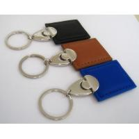 custom promotional products leather and metal keychains wholesale