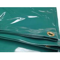Cheap 14 OZ Water Proof Glossy PVC Coated Tarpaulin Fabric For Boat Cover Or Truck Cover for sale