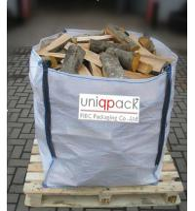 Cheap Firewood waterproof bulk material bags , 4 panel full opened top big bags for sale