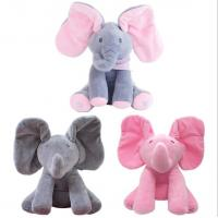 China Musical Peek a Boo Elephant Play Hide And Seek Electric Baby Cuddly Plush Toys on sale