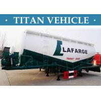Cheap V Type Bulk Cement Tank Truck Trailer Pulverized Coal Ash Powder for sale