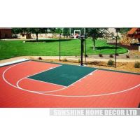 Cheap PP Synthetic Colorful Interlocking Tennis Court Flooring Surface for sale