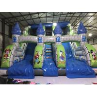Cheap New Disney cartoons inflatable dry slide fun castle inflatable mickey painting high standard slide for sale