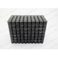 Cheap Cylinder N35 Neodymium Magnets Coated Black Epoxy , Neodymium Cube Magnets For Furniture Component wholesale