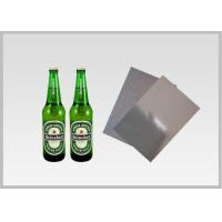 Cheap Washable Silver Metallic Paper With Laser Holographic  Wood Pulp Material Beer Bottle Label in 70gsm for sale