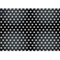 Cheap Iron Plate Black Perforated Metal Sheet With Round or Other  Holes Staggered Pitch for sale