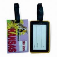 Cheap Soft PVC Luggage Tags, Suitable for Sales Promotional for sale