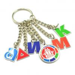 Cheap Skull Shape Engraved Metal Keychains , Sound Keyring Custom Logo Keychains for sale