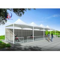 Cheap High Peak Double Side Car Parking Tensile Structure Umbrella Car Parking Shade wholesale