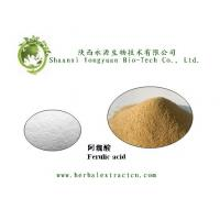 China Chinese manufacturer supply Ferulic acid 98%, pure ingredient, CAS No.: 1135-24-6 on sale