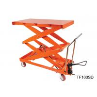 Mobile Hydraulic Lift Table Cart , Adjustable Height Cart Scissor Lift