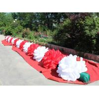 Cheap Multi Color Inflatable Flower Chain  For Wedding Decoration With LED for sale