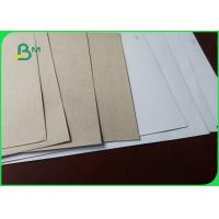 China Waster Paper Pulp Recycled Coated Chromo Duplex Cardboard White / Grey on sale