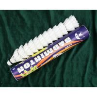 China Wholesale Cheap Duck Feather Big Shuttlecock For Badminton Training on sale