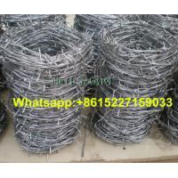 Barbed wire in roll of grating metal com