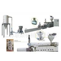 China PP PE Granules Production Line , Plastic Waste Recycling Granulating Making Machine on sale