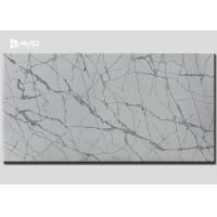 Cheap Grey White Color Quartz Stone Slab SGS Passed For Kitchen Countertop for sale