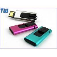 Cheap Slide Type USB Pen Thumb Drive 4GB Rectangle Design Curved Edge for sale