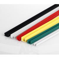 Buy cheap Aluminum profile accessory slot 8 black PVC seal strip sliding rubber slot cover from wholesalers