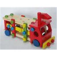 Preschool Manipulative Toys : Colorful screw personalized wooden toys for preschool