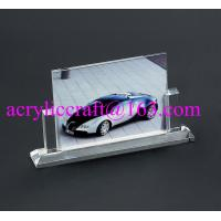 China Wholesale handmade glass souvenir photo picture frames clear acrylic photo stand on sale