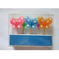 Cheap Newest  Butterfly Design Colourful Toothpick Birthday Decorative Candles for sale