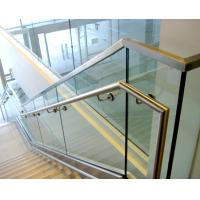 Cheap Aluminum u base channel glass railing with stainless steel top handrail for sale