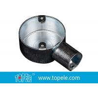 Cheap TOPELE 25mm / 32mm BS Electrical Conduit Circular Junction Box For Conduit Fittings for sale